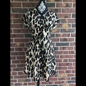 Nanette Lepore cheetah dress, size 4